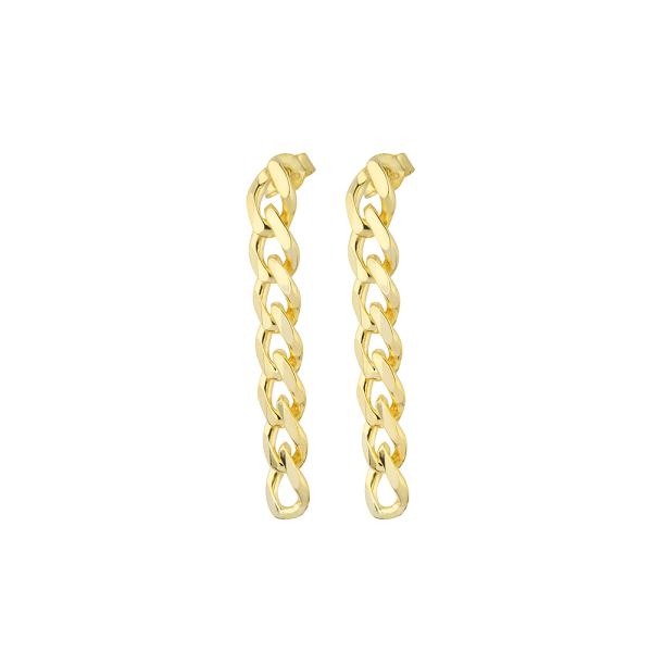 - RETRO CHAIN GOLD EARRINGS