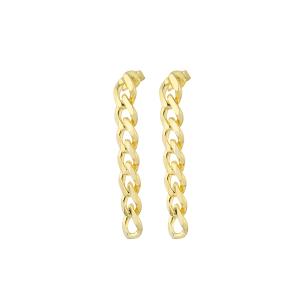 RETRO CHAIN GOLD EARRINGS - Thumbnail
