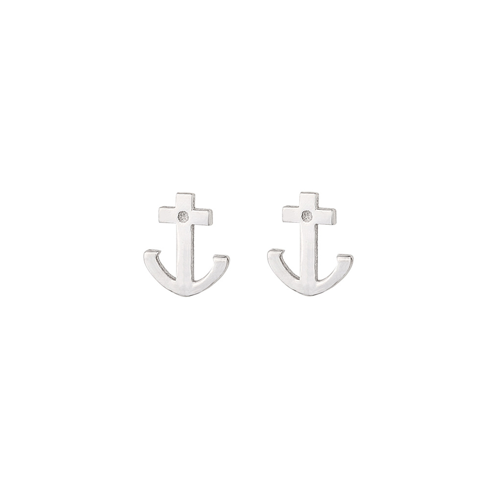 REFLECTIONS ANCHOR EARRINGS