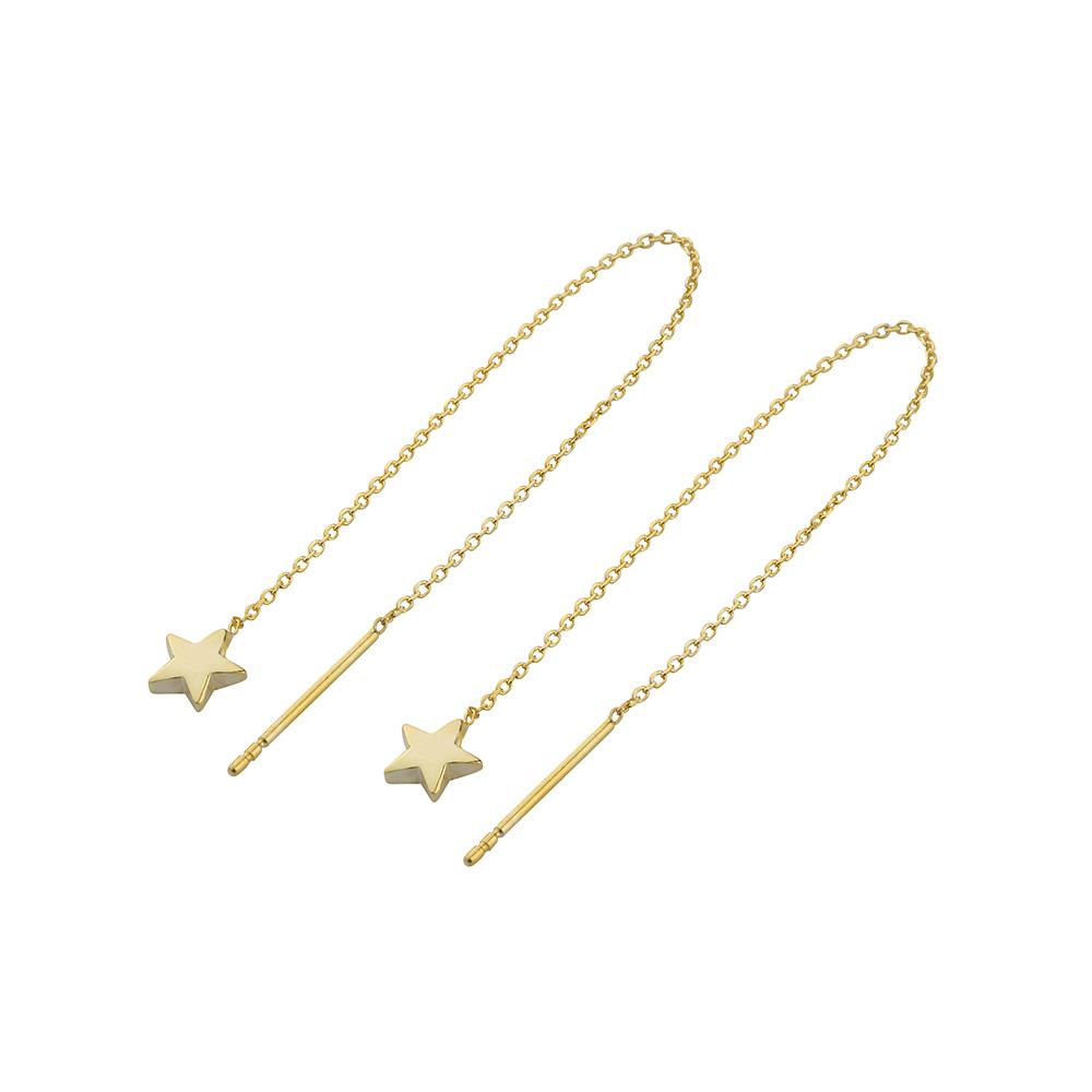 STAR CHAIN EARRINGS