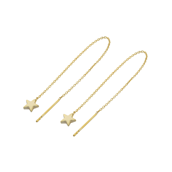 - STAR CHAIN EARRINGS
