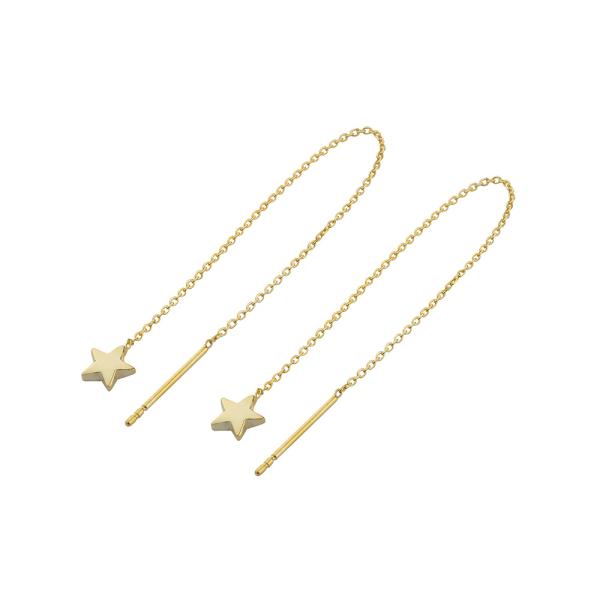 - STAR CHAIN GOLD EARRINGS