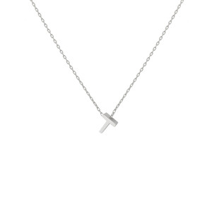 - T INITIAL NECKLACE