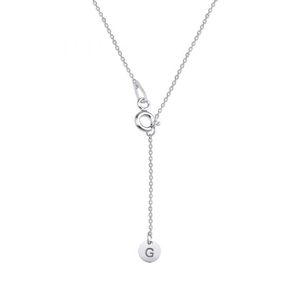 PAVE F INITIAL NECKLACE - Thumbnail (2)