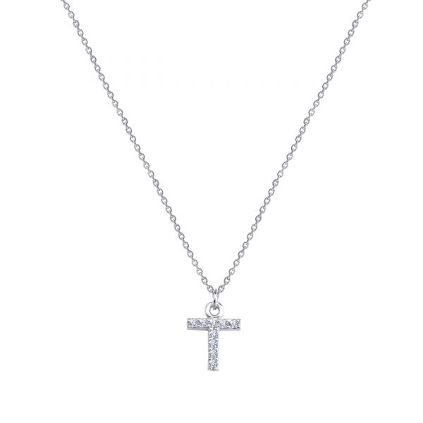 - PAVE T INITIAL NECKLACE
