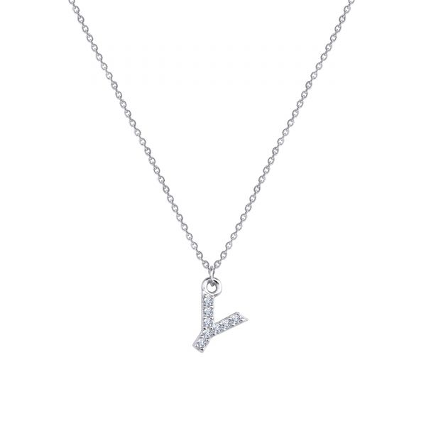 - PAVE Y INITIAL NECKLACE