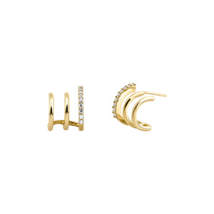 - TRIA HOOP EARRINGS
