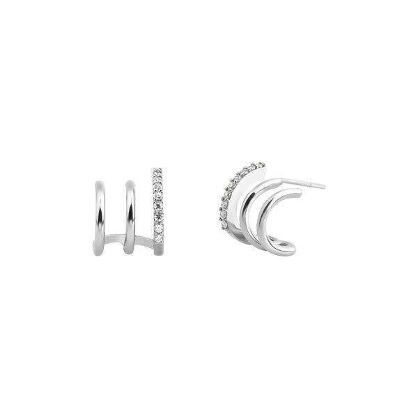 TRIA HOOP EARRINGS