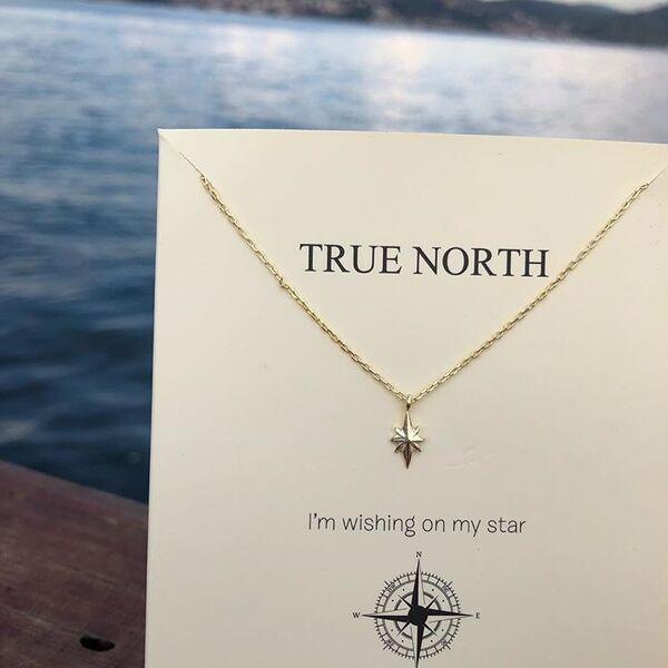 TRUE NORTH TINY NECKLACE - Thumbnail (2)