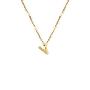 - V INITIAL NECKLACE
